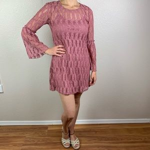 Xtraordinary Mauve lace dress